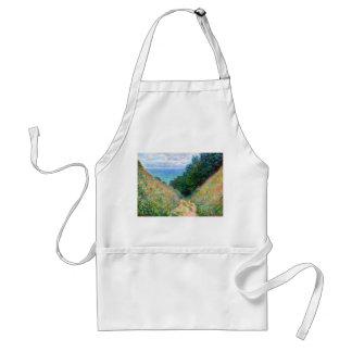 Claude Monet: Path at La Cavee Pourville Adult Apron