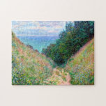 "Claude Monet: Path at La Cavee Pourville Jigsaw Puzzle<br><div class=""desc"">A beautiful classic landscape puzzle featuring a path at La Cavee at Pourville,  painted by the French impressionist painter Claude Monet.</div>"