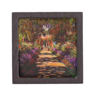 Claude Monet-Pathway in Monet's Garden at Giverny Jewelry Box