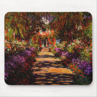 Claude Monet-Pathway in Monet's Garden at Giverny Mouse Pad