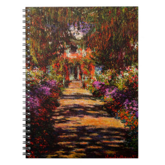 Claude Monet-Pathway in Monet's Garden at Giverny Notebook