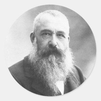 Claude Monet Photo by Felix Nadar in 1899 Classic Round Sticker