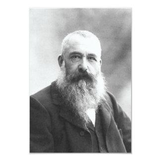 "Claude Monet Photo by Felix Nadar in 1899 3.5"" X 5"" Invitation Card"