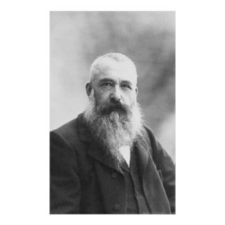 Claude Monet Photo by Felix Nadar in 1899 Poster