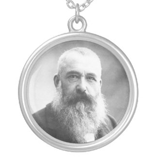 Claude Monet Photo by Felix Nadar in 1899 Silver Plated Necklace