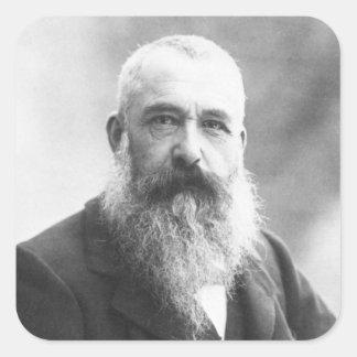 Claude Monet Photo by Felix Nadar in 1899 Square Sticker