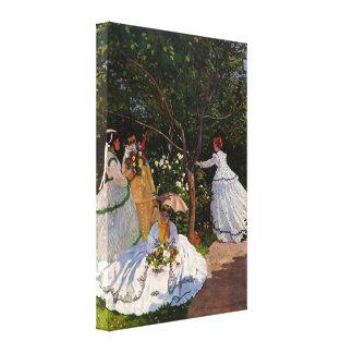 Claude Monet - Picnic Canvas Print