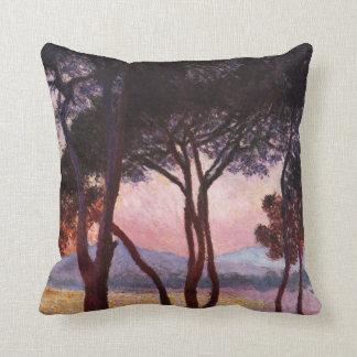 Claude Monet: Pines Throw Pillow