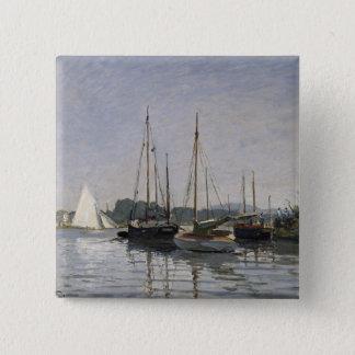 Claude Monet   Pleasure Boats, Argenteuil, c.1872- Pinback Button