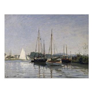 Claude Monet   Pleasure Boats, Argenteuil, c.1872- Postcard