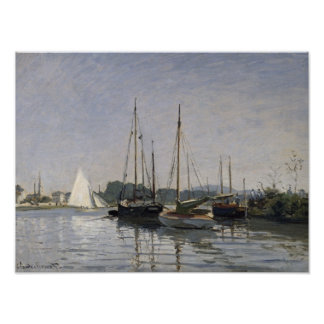 Claude Monet | Pleasure Boats, Argenteuil, c.1872- Poster