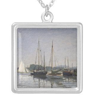 Claude Monet   Pleasure Boats, Argenteuil, c.1872- Silver Plated Necklace