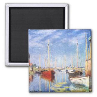 Claude Monet: Pleasure Boats at Argenteuil 2 Inch Square Magnet