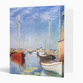 Claude Monet: Pleasure Boats at Argenteuil 3 Ring Binder