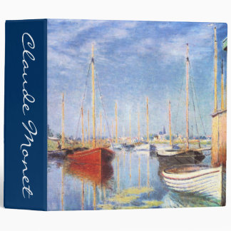 Claude Monet: Pleasure Boats at Argenteuil Binder