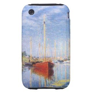 Claude Monet: Pleasure Boats at Argenteuil Tough Iphone 3 Cover