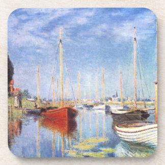 Claude Monet: Pleasure Boats at Argenteuil Drink Coaster