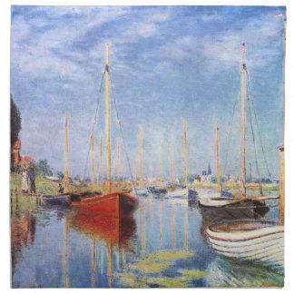 Claude Monet: Pleasure Boats at Argenteuil Napkin