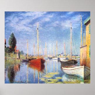 Claude Monet: Pleasure Boats at Argenteuil Poster