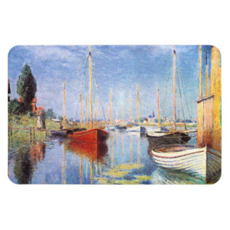Claude Monet: Pleasure Boats at Argenteuil Rectangular Photo Magnet