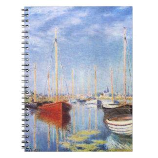 Claude Monet: Pleasure Boats at Argenteuil Spiral Notebook