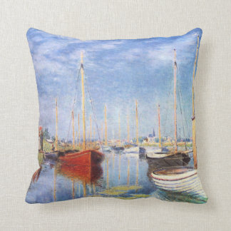 Claude Monet: Pleasure Boats at Argenteuil Throw Pillow