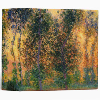 Claude Monet: Poplars at Giverny in Sunrise 3 Ring Binder