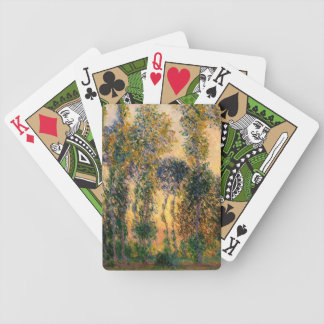 Claude Monet: Poplars at Giverny in Sunrise Bicycle Playing Cards