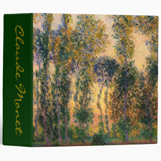Claude Monet: Poplars at Giverny in Sunrise Binder