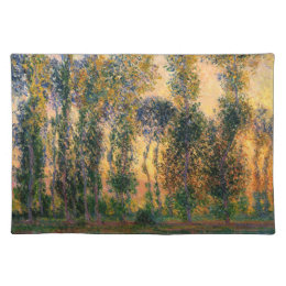 Claude Monet: Poplars at Giverny in Sunrise Cloth Placemat