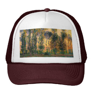 Claude Monet: Poplars at Giverny in Sunrise Trucker Hat