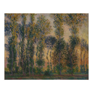 Claude Monet - Poplars at Giverny, Sunrise Posters