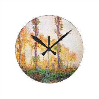 Claude Monet // Poplars (Autumn) 1891 Clocks