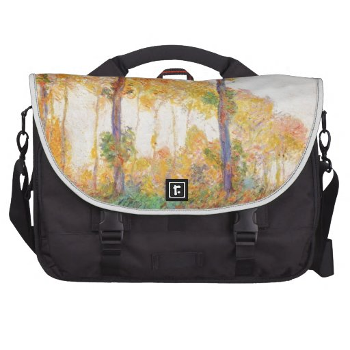 Claude Monet // Poplars (Autumn) 1891 Bags For Laptop