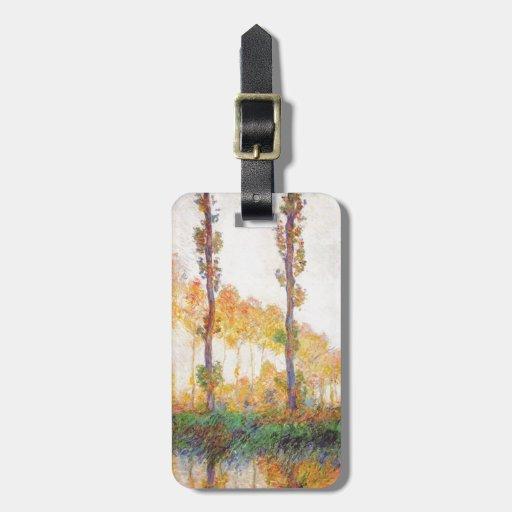 Claude Monet // Poplars (Autumn) 1891 Luggage Tags