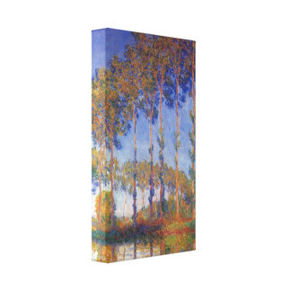 Claude Monet - Poplars in the Epte, sunset Canvas Print
