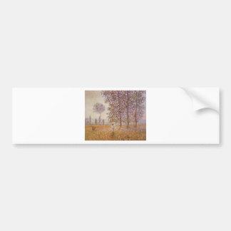 Claude Monet - Poplars in the Sun Bumper Stickers