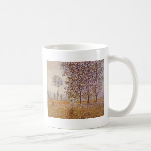 Claude Monet - Poplars in the Sun Coffee Mug