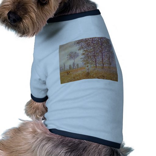 Claude Monet - Poplars in the Sun Dog Tshirt
