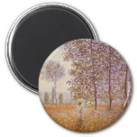 Claude Monet - Poplars in the Sun Refrigerator Magnet