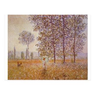 Claude Monet - Poplars in the Sun Post Card