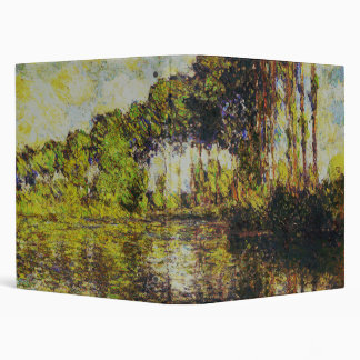 Claude Monet - Poplars on the Epte 3 Ring Binders