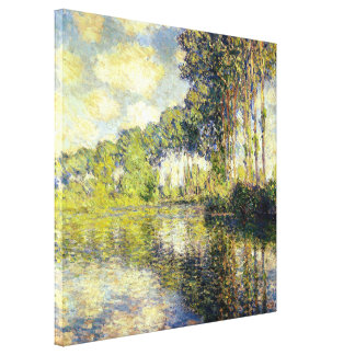 Claude Monet - Poplars on the Epte Canvas Print