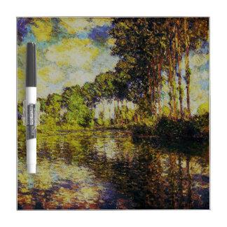 Claude Monet - Poplars on the Epte Dry Erase Whiteboard
