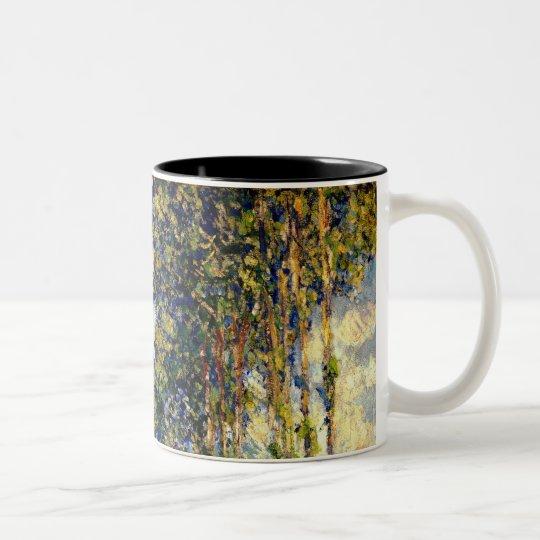 Claude Monet - Poplars on the Epte Two-Tone Coffee Mug
