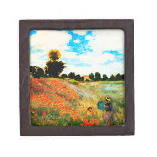 Claude Monet-Poppies at Argenteuil Jewelry Box
