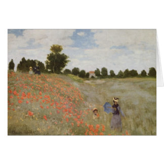 Claude Monet - Poppies Blooming Card