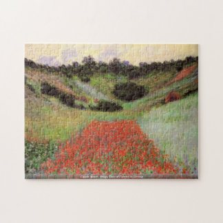 Claude Monet - Poppy Field of Flowers in Giverny Puzzles