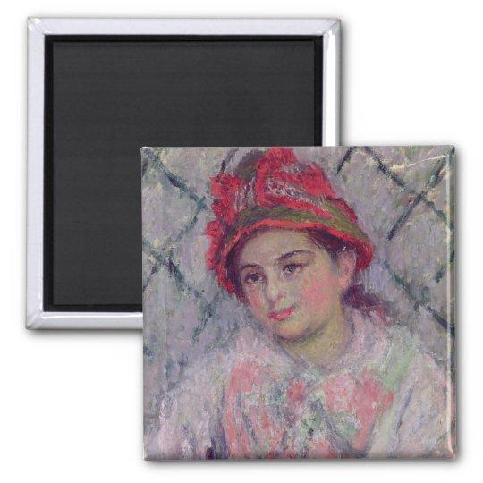 Claude Monet | Portrait of Blanche Hoschede Magnet