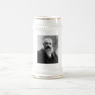 Claude Monet Portrait Photo Beer Stein